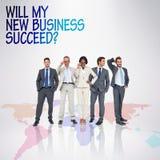 Zusammengesetztes Bild des Geschäftsteams Stockfotografie