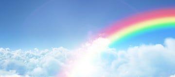 Zusammengesetztes Bild des grafischen Bildes des Regenbogens Stockfoto