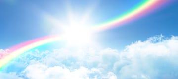 Zusammengesetztes Bild des Illustrationsbildes des Regenbogens Stockfotos