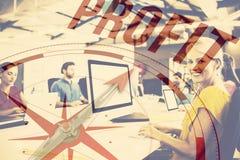 Zusammengesetztes Bild des Kompassses mit Gewinntext stockfotos
