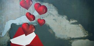 Zusammengesetztes Bild des Liebesbriefs lizenzfreie stockbilder