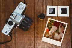 Zusammengesetztes Bild des sofortigen Fotos Stockbilder