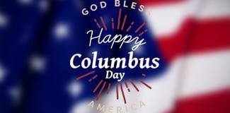 Zusammengesetztes Bild des Titels für Columbus-Tagesereignis Lizenzfreie Stockfotos