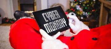 Zusammengesetztes Bild des Titels für Feier von Cyber Montag lizenzfreie stockfotos