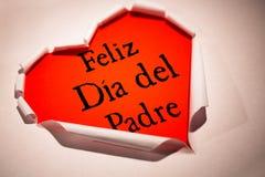 Zusammengesetztes Bild des Wortes Feliz dia Del padre Lizenzfreies Stockbild