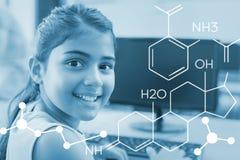 Zusammengesetztes Bild des zusammengesetzten Bildes der chemischen Struktur lizenzfreie stockfotos