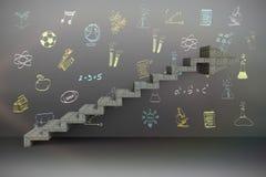 Zusammengesetztes Bild des zusammengesetzten Bildes der Schritte, die hochschieben Stockfoto