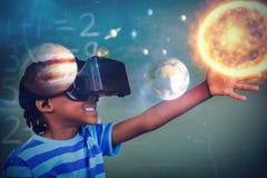 Zusammengesetztes Bild des zusammengesetzten Bildes des Sonnensystems mit Sonne Stockfoto