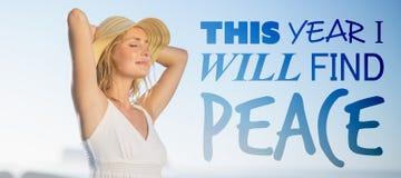 Zusammengesetztes Bild dieses Jahres finde ich Frieden Lizenzfreies Stockbild