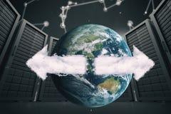 Zusammengesetztes Bild eines Bildes, in dem die Erde ist Stockbild