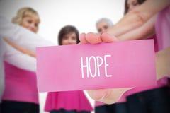 Zusammengesetztes Bild für Brustkrebsbewusstsein Stockfotografie