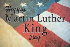 Zusammengesetztes Bild glücklichen Martin- Luther Kingtages stock abbildung