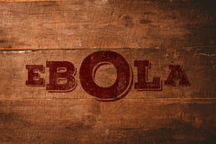 Zusammengesetztes Bild roten ebola Textes Stockfotos