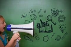 Zusammengesetztes Bild von Bildungsgekritzeln Lizenzfreie Stockbilder