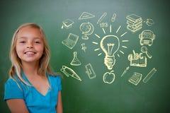 Zusammengesetztes Bild von Bildungsgekritzeln Stockbilder