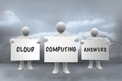 Zusammengesetztes Bild von Datenverarbeitungsantworten der Wolke Stockfotografie