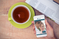 Zusammengesetztes Bild von Datierungswebsite Stockfotos