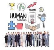 Zusammengesetztes Bild von den Geschäftsleuten, die oben stehen Stockfoto