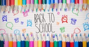Zusammengesetztes Bild von farbigen Bleistiften Stockbild