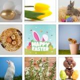 Zusammengesetztes Bild von fröhlichen Ostern lizenzfreie stockfotografie