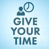 Zusammengesetztes Bild von geben Ihre Zeit Stockfoto