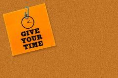Zusammengesetztes Bild von geben Ihre Zeit Lizenzfreie Stockbilder