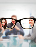 Zusammengesetztes Bild von Gläsern Lizenzfreies Stockfoto