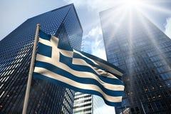 Zusammengesetztes Bild von Griechenland-Staatsflagge Lizenzfreies Stockfoto