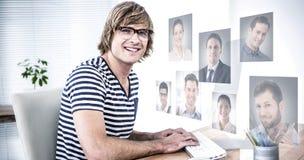 Zusammengesetztes Bild von Profilbildern Lizenzfreie Stockfotografie