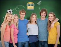 Zusammengesetztes Bild von Schulgraphiken Lizenzfreie Stockfotografie