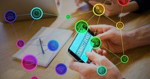 Zusammengesetztes Bild von Smartphone apps Ikonen Lizenzfreie Stockbilder
