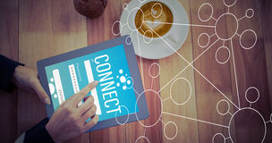 Zusammengesetztes Bild von Smartphone apps Ikonen Lizenzfreies Stockbild