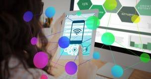 Zusammengesetztes Bild von Smartphone apps Ikonen Stockbilder