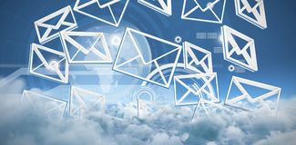 Zusammengesetztes Bild von Symbolen der geketteten Nachricht stock abbildung