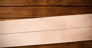 Zusammengesetztes Bild von Unkosten von hölzernen Planken lizenzfreie abbildung