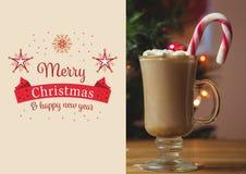 Zusammengesetztes Bild von Wünschen der frohen Weihnachten und des guten Rutsch ins Neue Jahr Lizenzfreie Stockfotografie