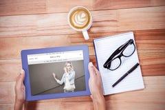 Zusammengesetztes Bild von Website frontpage Lizenzfreie Stockfotos