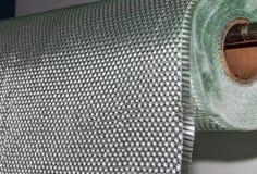 Zusammengesetztes Material des Fiberglasgewebes Rollen lizenzfreie stockfotos