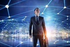 Zusammenhang und Kommunikation als Schlüssel zum Erfolg Gemischte Medien Lizenzfreie Stockfotos