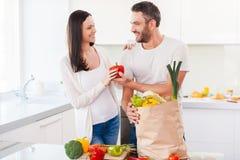 Zusammenleben ein gesundes Leben Lizenzfreie Stockbilder