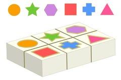 Zusammenpassendes Spiel mit geometrischen Formen Lizenzfreie Stockfotografie