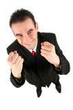 Zusammenpressende Fäuste des Geschäftsmannes Lizenzfreie Stockbilder