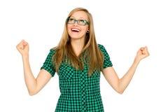 Zusammenpressende Fäuste des Mädchens Lizenzfreies Stockbild