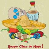 Zusammensetzung Cinco Des Mayo Lizenzfreies Stockfoto