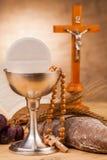Zusammensetzung der heiligen Kommunion Stockfotografie
