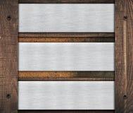 Zusammensetzung der Metallaluminiumplakette, Namensschild Stockbild