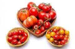 Zusammensetzung der unterschiedlichen Vielzahl der Tomaten Stockfoto