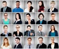 Zusammensetzung des verschiedenen Leutelächelns lizenzfreies stockbild