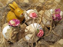 Zusammensetzung für Ostern in der Weinleseart Stockbild