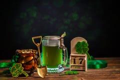 Zusammensetzung für St- Patrick` s Tag Stockfotografie